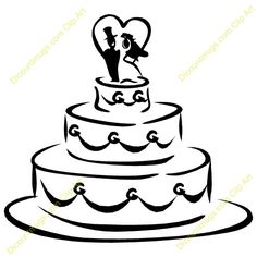 wedding cake clip art description clip art of a wedding cake rh pinterest com wedding cake clipart images wedding cake clip art black and white