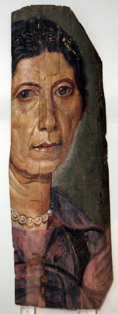 File:Portrait of a woman ca. AD, Mummy Portraits from Roman Tombs in Egypt, Altes Museum Berlin Ancient Egypt History, Ancient Rome, Ancient Art, Ancient Greek, Egyptian Mummies, Egyptian Art, Roman History, Art History, Mural Painting