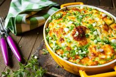 Turkey Sausage and Egg Casserole - Recipes for Healthy Living by the American Diabetes Association® Turkey Sausage, Sausage And Egg, Chicken Sausage, Chicken Pasta, Marrow Recipe, Yellow Squash Casserole, Egg Casserole, Chicken Casserole, Zucchini Casserole