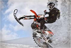 Mountain Horse snow bike kit | Mountain Horse Dirt Bike Snow Conversion Kit | Bike Snow Conversion Kit | Timbersled Snowbike http://www.way2speed.com/2014/02/mountain-horse-snow-bike-kit.html