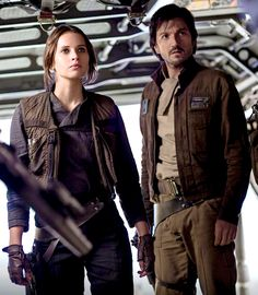 "cassianandor: "" ""Jyn Erso and Cassian Andor in the new HQ still from Rogue One: A Star Wars Story "" """