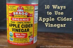 10 Ways to Use Apple Cider Vinegar - this stuff is good for you, inside and out, head to toe. Literally! This list is primarily about health and beauty, which is why I pinned it to DH-Body, but ACV is also great for cleaning house :)