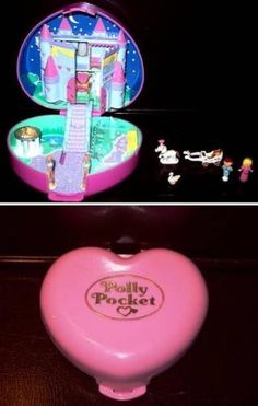 This is what Polly Pocket was like back in the day...before some kid swallowed her and they had to start making her bigger!
