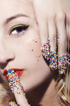 candy #eyeliner #makeup #concept