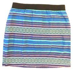 AE mini skirt super cute striped mini w/ zipper detail on back American Eagle Outfitters Skirts Mini