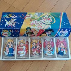 RARE New!! Sailor Moon Super Glass Set Kawaii Japan Anime F/S 5