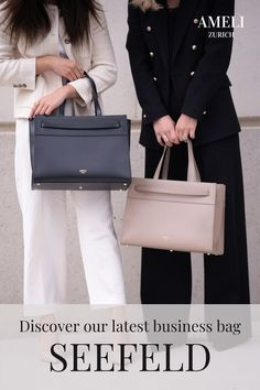 """SEEFELD is the perfect bag for striving business women. We can't wait to wear it with our favorite fall outfits! It combines minimal and classic design with the highest functionality - the perfect companion for your work outfits. The removable laptop case fits up to 14"""" laptops. Did you know that our bags can also be attached to your suitcase to make it a great travel bag? Find out more about our sustainably produced leather handbags. Zurich, Fall Outfits, Work Outfits, Business Outfits, Laptop Case, Hermes Kelly, Travel Bag, Business Women, Leather Handbags"""