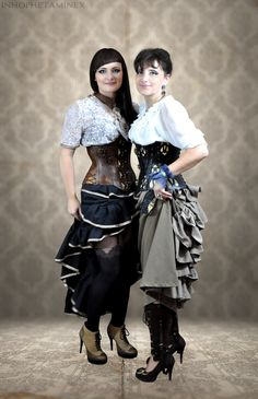 You can buy corset here https://www.etsy.com/listing/208179854/hard-leather-gothic-corset-reduction?ref=related-1 clothes was made by castom order from https://www.facebook.com/SteampunkAndFantasy?fref=ts