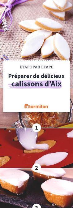 Réussissez vos propres calissons grâce à ce pas à pas photos. Une douceur venue de Provence à base de melon confit #recette #cuisine #marmiton #calisson #mignardise #sucrerie #bonbon #provence #specialite #melon