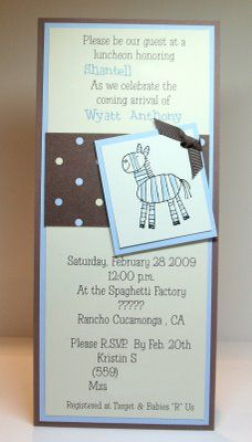 Baby shower invitation with stampinup baby prints my su baby shower invitation with stampinup baby prints my su creations pinterest stampin up shower invitations and babies filmwisefo Choice Image
