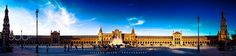 """Panoramic of the Plaza of Spain Go to http://iBoatCity.com and use code PINTEREST for free shipping on your first order! (Lower 48 USA Only). Sign up for our email newsletter to get your free guide: """"Boat Buyer's Guide for Beginners."""""""