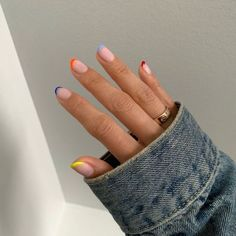 ☆ P - Nageldesign - Nail Art - Nagellack - Nail Polish - Nailart - Nails - Cute Acrylic Nails, Cute Nails, Pretty Nails, Gel Nails, Shellac Nail Polish, Pretty Nail Colors, Glitter Nails, Minimalist Nails, Minimalist Fashion