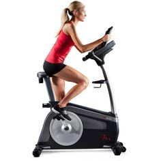 Freemotion Upright Exercise Bike with Expert Installation Service, Black Exercise Bike For Sale, Upright Exercise Bike, Upright Bike, Training Apps, Fitness Studio Training, Cardio At Home, Bike Trainer, Cardio Equipment, Certified Personal Trainer