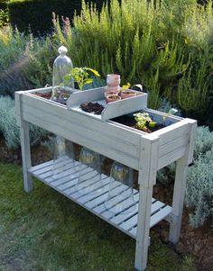 Mesa de jardinería - jardindeco - Decofinder