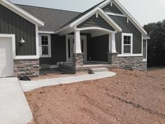 The Gray House - Rockford, MI General Contractor - Armstrong Builders Craftsman Home Exterior, Modern Farmhouse Exterior, Craftsman Style, Home Exterior Makeover, Exterior Remodel, Exterior Paint Colors For House, Gray Exterior Houses, Grey Siding House, Vinyl Siding Colors