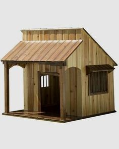 Your dog's dreams of living in the wild West can come true with this saloon Dog House.   http://amzn.to/2bAwdwU
