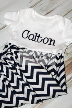 This layette baby gown would make a perfect coming home outfit for your baby boy! Or would make a special baby shower gift for the new mom to be! Comes with FREE MONOGRAMMING! #monogrammed #baby #babyboy #cominghomeoutfit