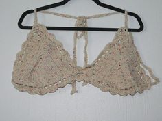 Check out this item in my Etsy shop https://www.etsy.com/listing/287450653/delicate-crotchet-bikini-top-with-pastel