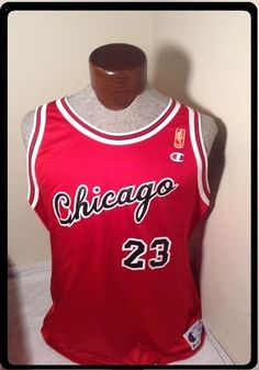 RARE Michael JORDAN Chicago BULLS SZ 48 ROOKIE Jersey Champion GOLD LABEL  NBA  Champion  ChicagoBulls 3936a86e7