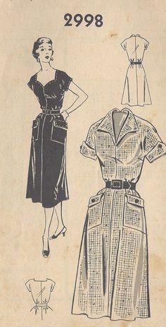 021c0da661da 1950s Vintage Sewing Pattern B40