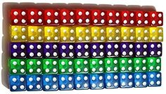 Dice Games, Math Games, 6 Sided Dice, Educational Games For Kids, Family Game Night, Lesson Plans, Different Colors, Toys, Children