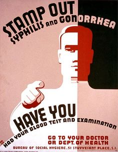 SYPHILIS POSTERS, 1940S