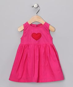 Pink & Red Heart A-Line Dress - Infant, Toddler & Girls