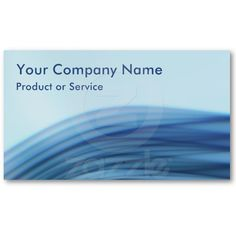 Techno blue business card with a silky blue wave pattern.
