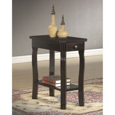 Cappuccino Curved End Accent Table