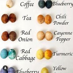 Easter Egg Dye, Easter Egg Crafts, Paper Mache Crafts, Tea Powder, Cranberry Juice, Turmeric, Onion, Blueberry, Cake Decorating