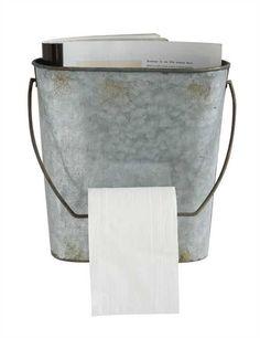Tin Toilet Paper Holder & Wall Rack