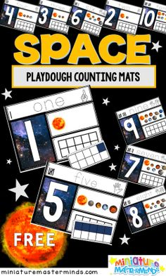 Space Themed Printables and Activities ⋆ Miniature Masterminds Space Theme Classroom, Space Theme Preschool, Planets Activities, Space Activities, Stem Activities, Space Solar System, Math Notebooks, Space Crafts, Outer Space
