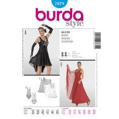 Burda Style Pattern 7879 Dress Tittana- sheer only if another skirt or pants underneath