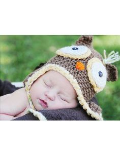 Owl Hat Crochet Pattern Download from e-PatternsCentral.com -- This adorable owl hat can be customized in different colors and sizes. Makes a great costume idea or photo prop for little ones!