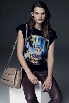 BALENCIAGA  Printed' Glitter Girl Sleeveless Tee-shirt.