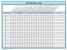 31 Days of Home Management Binder Printables: Day #23 Auto Maintenance Log