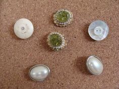 Bulletin Board Push Pins From Vintage Buttons And Jewelry