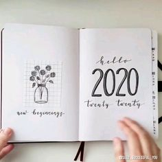 Bullet Journal set up. ☕🗒🖊 Music by - -My 2020 Bullet Journal set up. ☕🗒🖊 Music by - Bullet Journal set up. ☕🗒🖊 Music by - -My 2020 Bullet Journal set up. ☕🗒🖊 Music by - - Hand lettering worksheets for beginners. Learn modern calligraphy w. January Bullet Journal, Bullet Journal Quotes, Bullet Journal Cover Page, Bullet Journal Aesthetic, Bullet Journal Notebook, Bullet Journal Ideas Pages, Bullet Journal Spread, Bullet Journal Inspo, Bullet Journal Layout