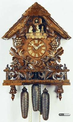Cuckoo Clock 8-day-movement Chalet-Style 52cm by Rombach & Haas - 4701