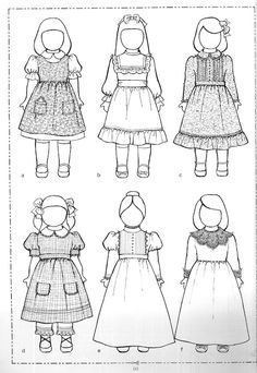 Résultat d'images pour Free Printable Doll Clothes Patterns American Girl Outfits, Doll Dress Patterns, Clothing Patterns, Paper Dolls Printable, Ag Doll Clothes, Sewing Dolls, Doll Crafts, Girl Dolls, Crochet