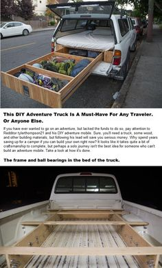 DIY Truck Bed Traveler - Who Says You Have To Have A Tent Or Camper To Go Camping!!!