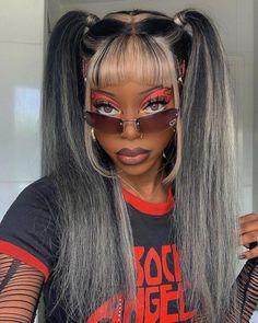 Baddie Hairstyles, Black Girls Hairstyles, Pretty Hairstyles, Wig Styles, Curly Hair Styles, Natural Hair Styles, Black Girl Aesthetic, Aesthetic Hair, Black Girl Makeup