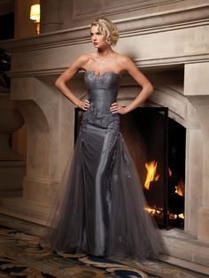 Trumpet/mermaid sweetheart glamorous with taffeta bridesmaid gown