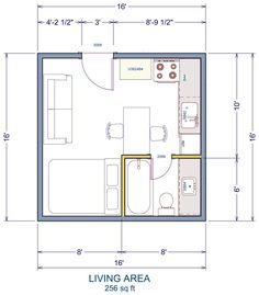 A possible floor plan that would work well with our Tiny House Building Kit Tiny House Kits, Tiny House Design, Small House Plans, Home Design, Kit Homes, Casa Bunker, Tyni House, House Studio, Cottage House