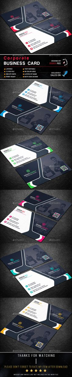 Corporate Business Card Template PSD. Download here: http://graphicriver.net/item/corporate-business-card/16757378?ref=ksioks
