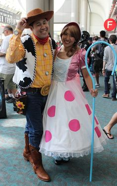 Pin for Later: 60 Costume Ideas For Couples Who Love to Geek Out Together Woody and Bo Peep