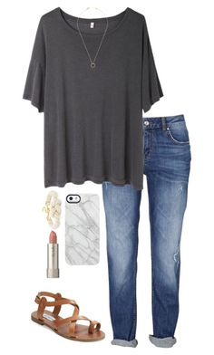 """""""School dress code is super strict this year:/"""" by southern-preppy101 ❤ liked on Polyvore featuring R13, Steve Madden, Jeweliq, BaubleBar, Uncommon and Ilia"""
