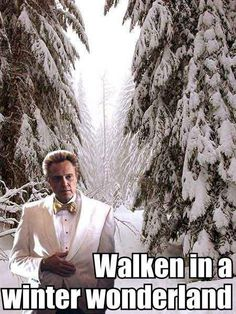 """Walken in a Winter Wonderland"" HAHAHA love this"