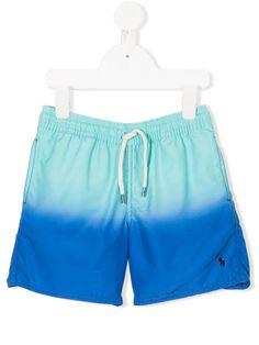 Shop Ralph Lauren Kids dégradé drawstring swim shorts. Ralph Lauren Kids, Swim Shorts, Drawstring Waist, Preppy, Trunks, Women Wear, Sporty, Boys, Swimwear