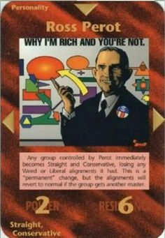 Illuminati card game - Ross Perot
